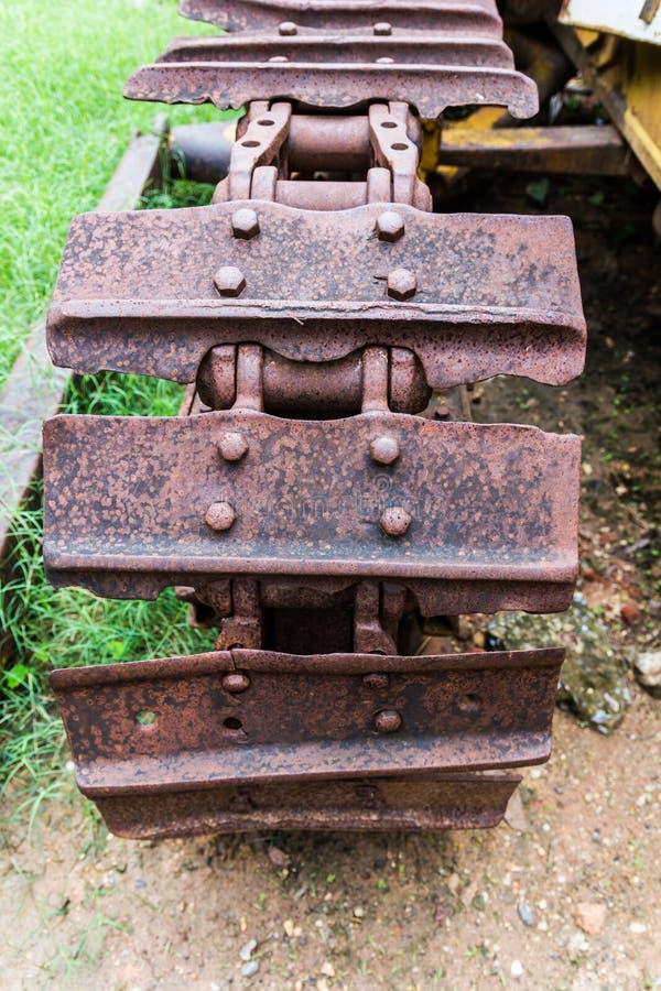 stary ciągnikowy koło fotografia stock