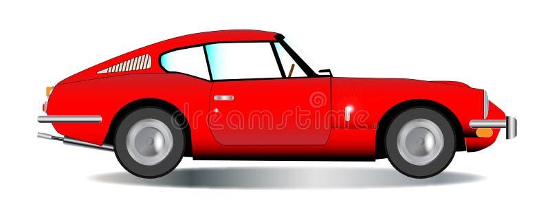 Stary Ciężki Odgórny sporta samochód ilustracja wektor