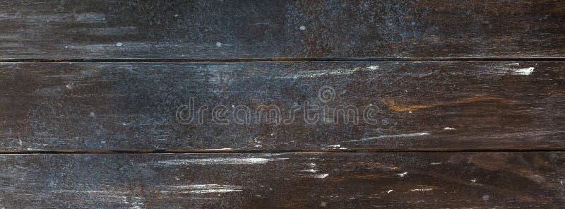 Stary ciemnego brązu tekstury drewniany tło zdjęcie stock