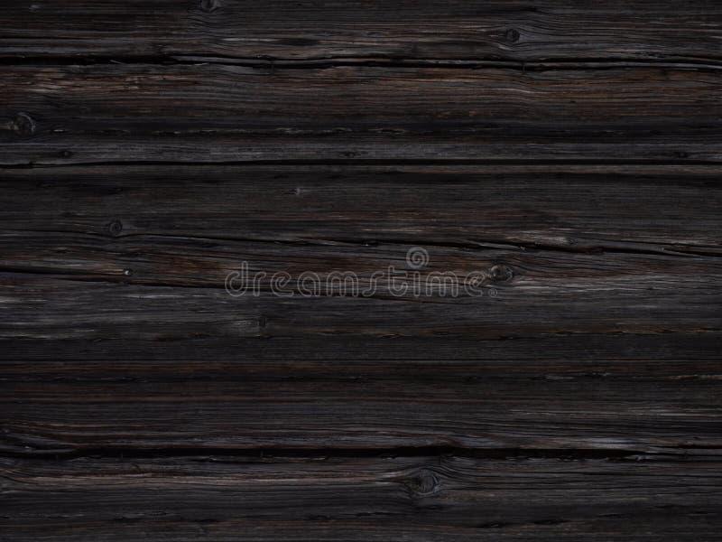 Stary ciemny drewniany tło z piękną teksturą fotografia royalty free