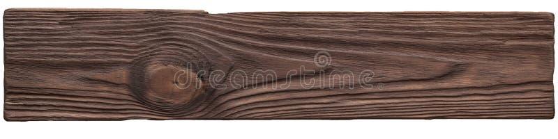 Stary ciemny drewno zaszaluje tekstury tła talerza obraz stock