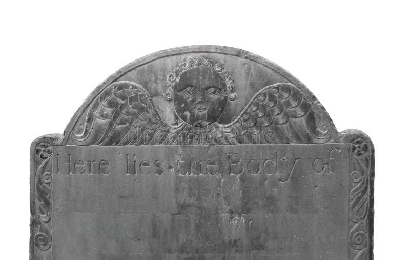 Stary ciemny headstone odizolowywający. obrazy royalty free