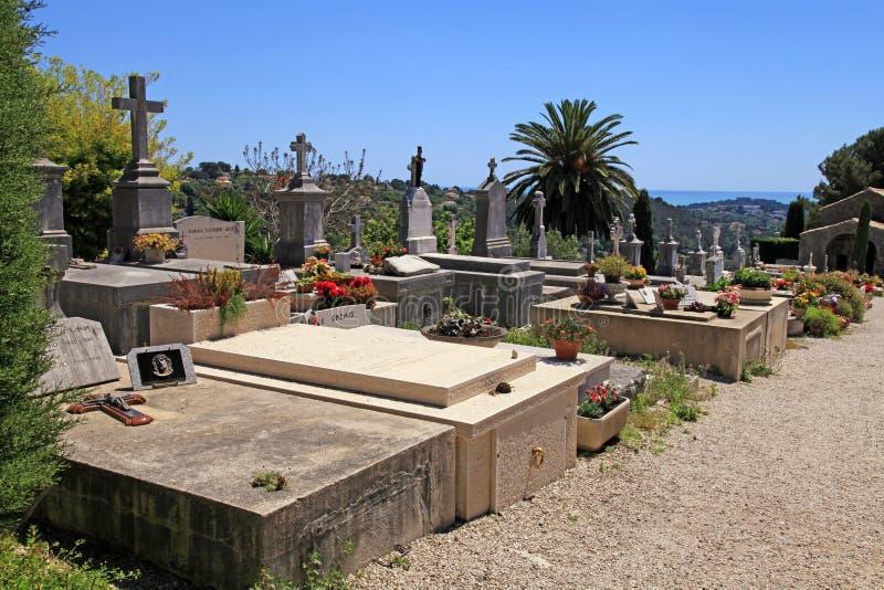 Stary cmentarz w Saint Paul De Vence, Provence, Francja obrazy royalty free