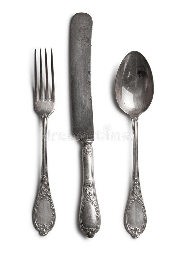 Stary cutlery obrazy royalty free