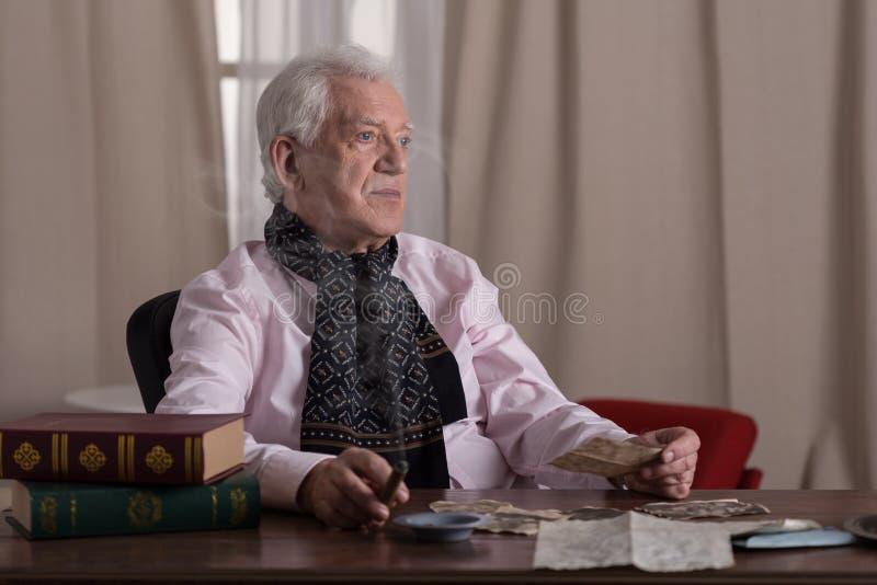 stary człowiek, fotografia stock