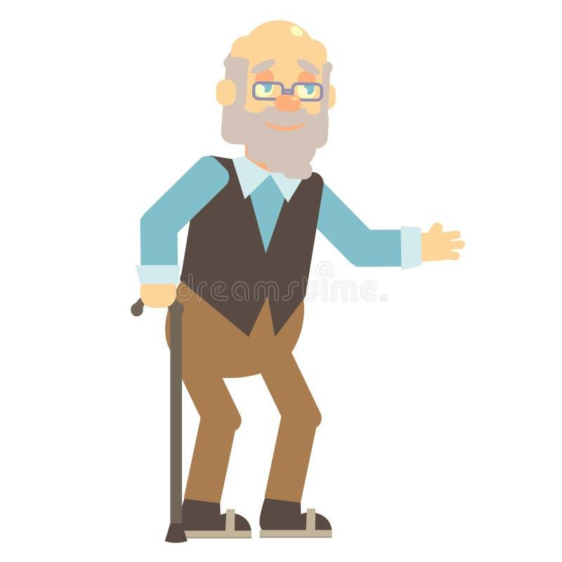 stary człowiek royalty ilustracja