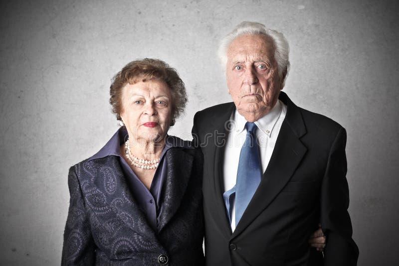 Stary człowiek i stara kobieta zdjęcia royalty free