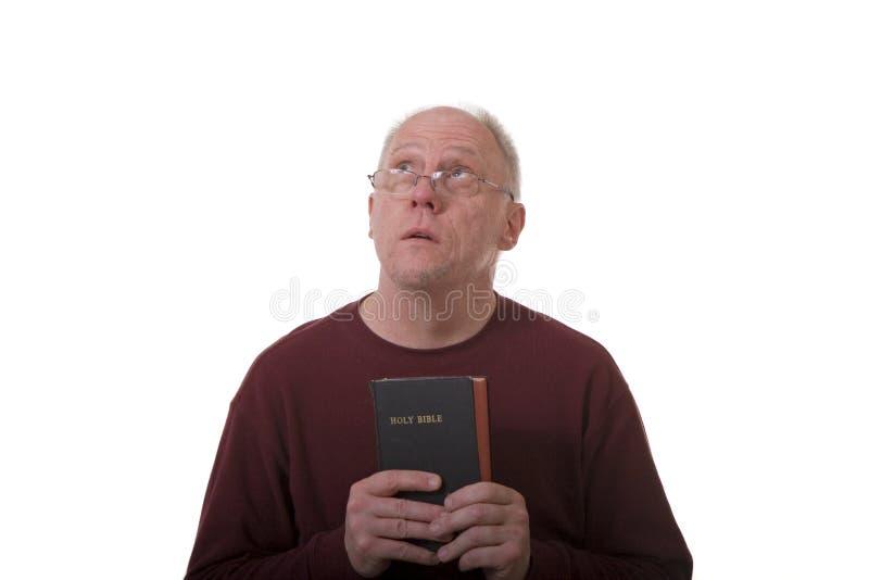 Stary Człowiek Patrzeje Niebo Bezpłatne Zdjęcie Stock