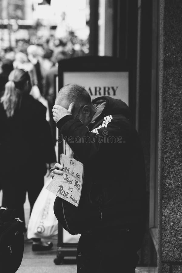Stary człowiek w Nowy Jork fotografia stock