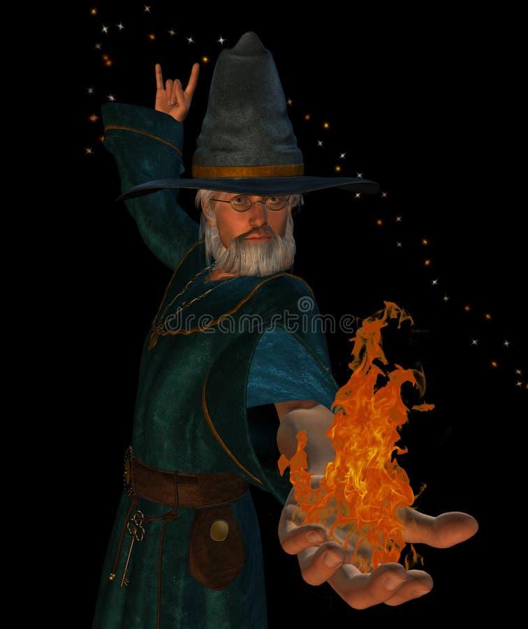 stary czarownik ilustracja wektor