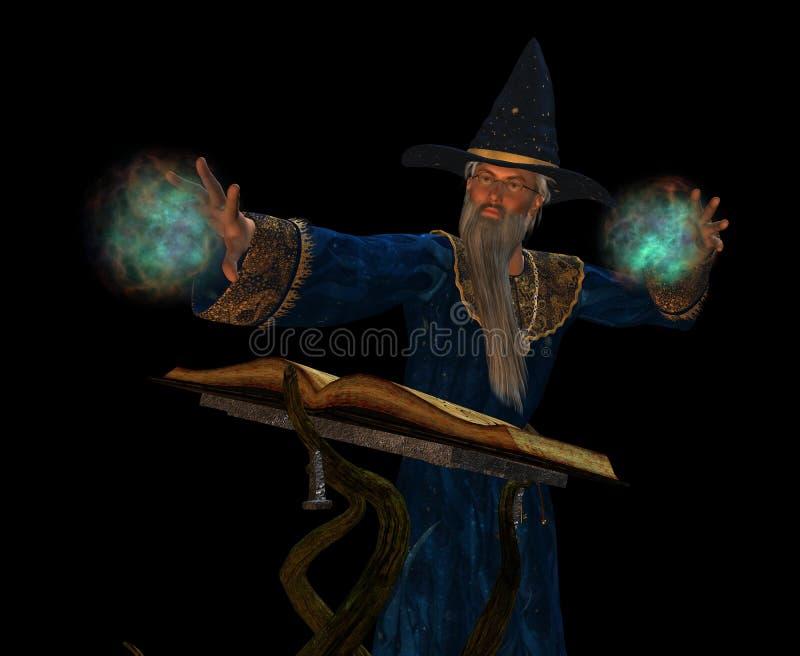 stary czarownik royalty ilustracja