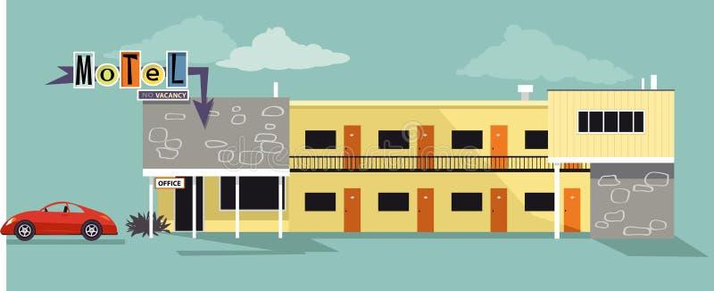 Stary czasu motel ilustracji