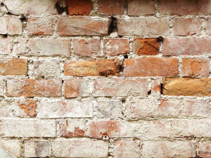 Stary czerwonej cegły kamień ściana fotografia stock