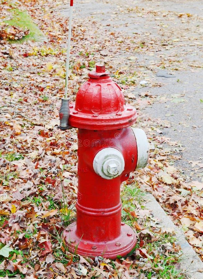 Stary czerwony pożarniczy hydrant obrazy royalty free