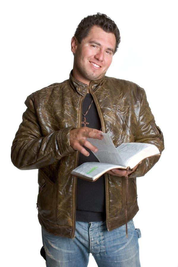 stary czytanie biblii obraz royalty free