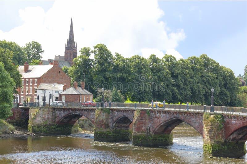Stary Dee most. Chester. Anglia fotografia stock