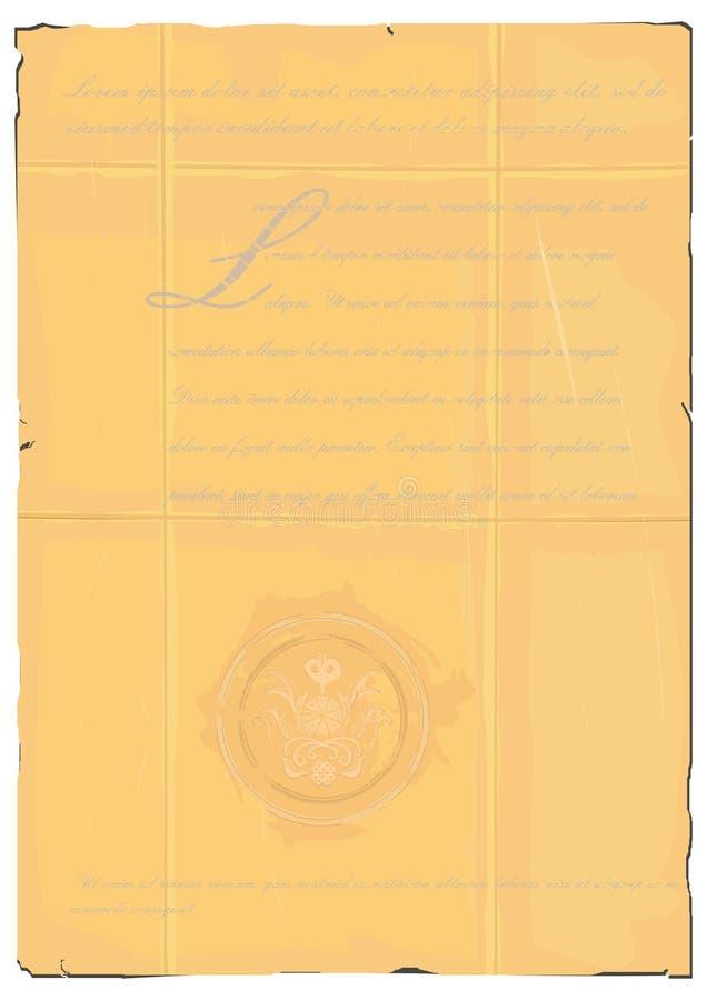 stary dokumentu royalty ilustracja