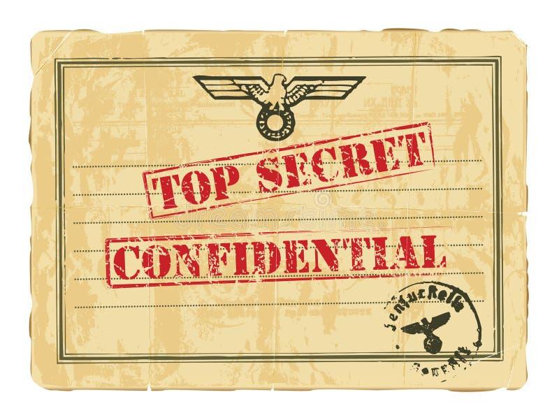 stary dokumentu sekret ilustracji