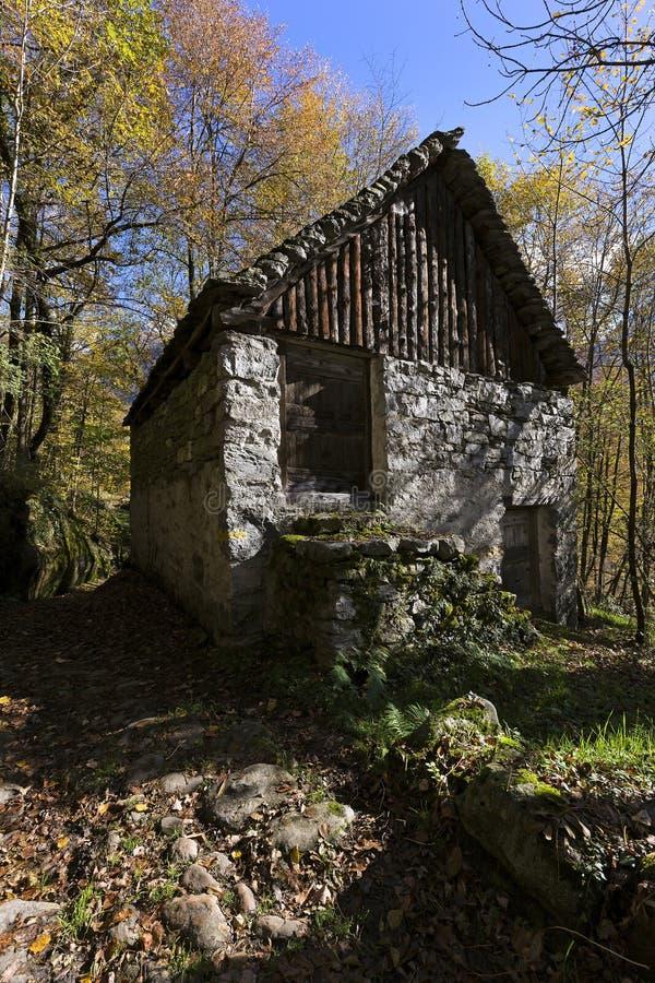 Stary dom na ścieżce obraz royalty free