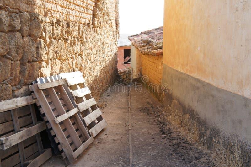 Stary dom w Hiszpańskiej wiosce fotografia royalty free