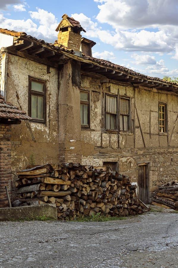 Stary dom w Kratovo, Macedonia zdjęcia royalty free