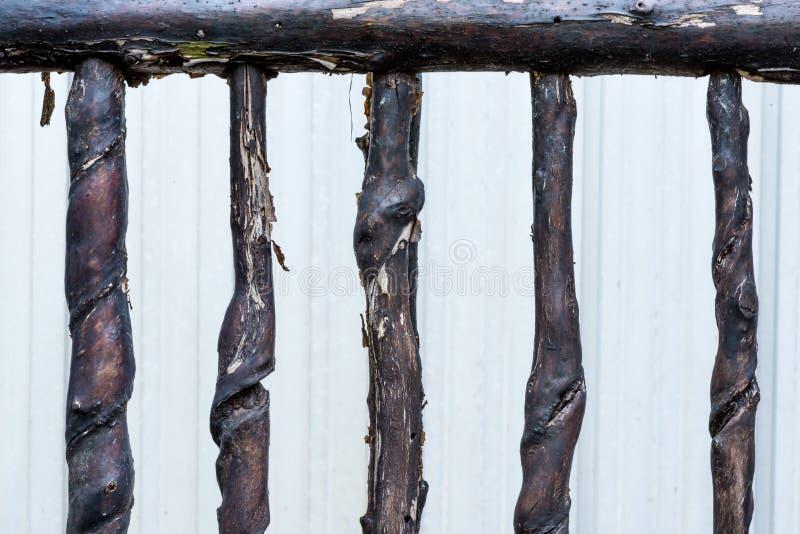 Stary drewna ogrodzenie zdjęcie stock