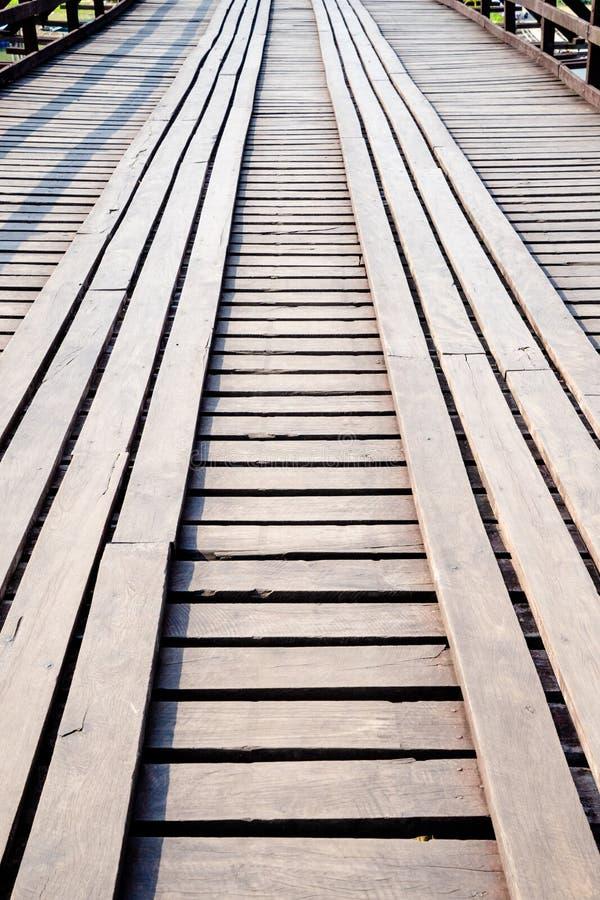 Stary drewniany bridg obrazy stock