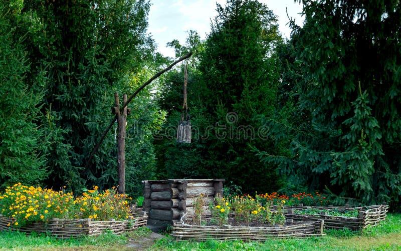 Stary Drewniany Dobrze Z wiadrem obrazy royalty free