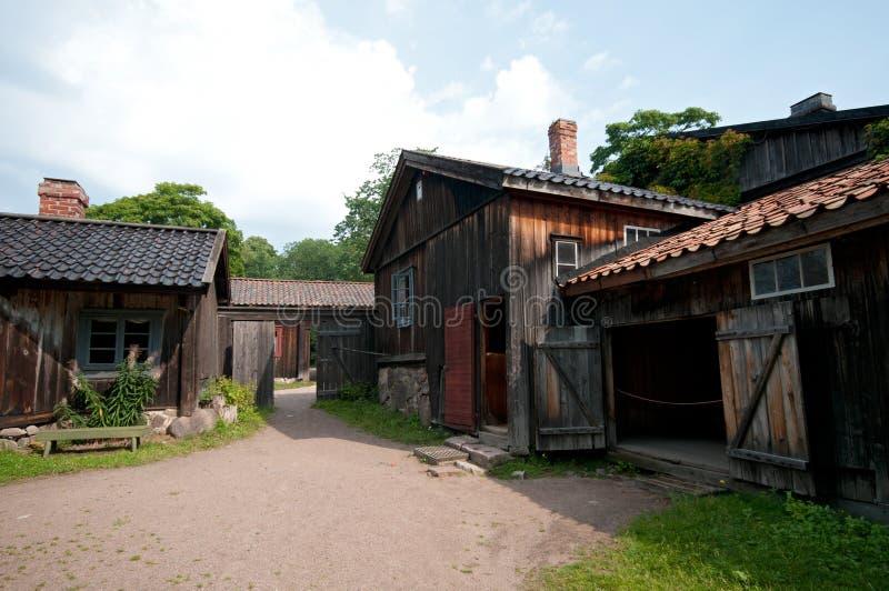 Stary drewniany dom obraz stock