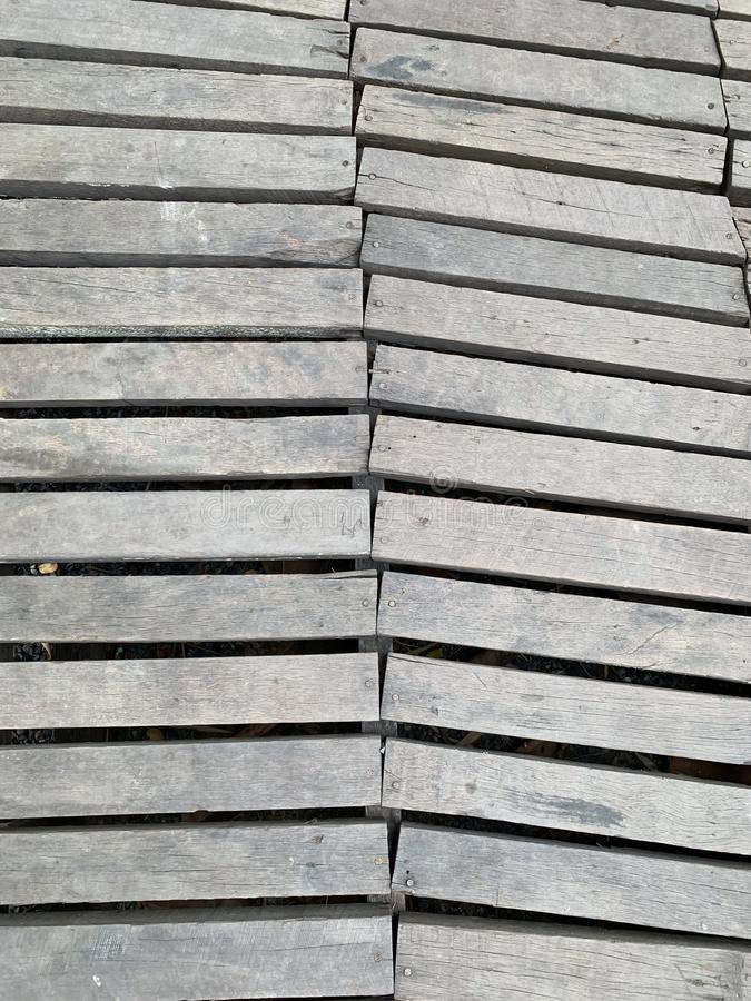 Stary drewniany droga przemian tło fotografia stock