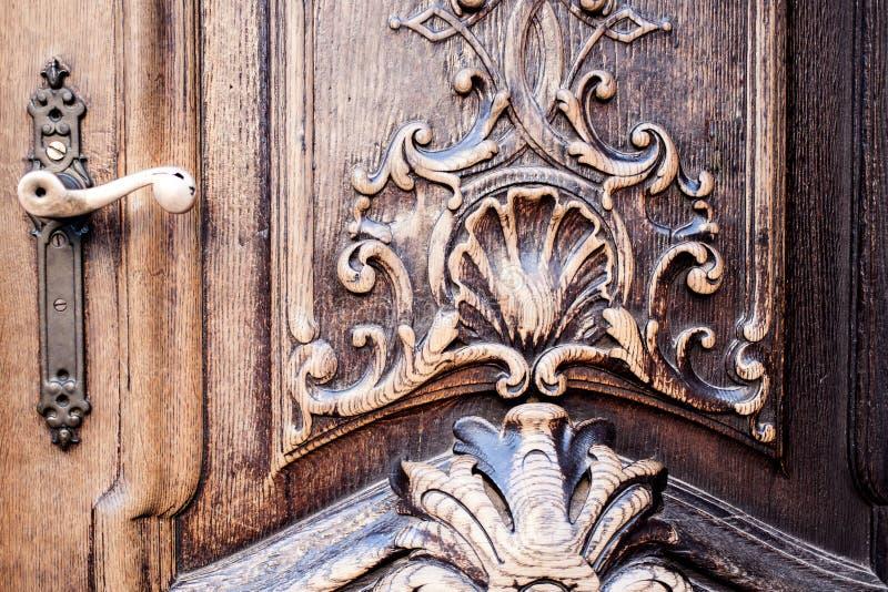 Stary drewniany drzwi obrazy stock