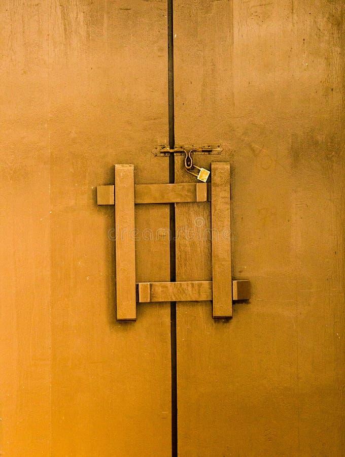 Stary drewniany drzwi obraz royalty free