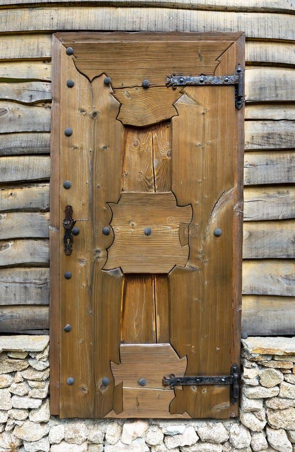 Stary drewniany drzwi buda obrazy royalty free