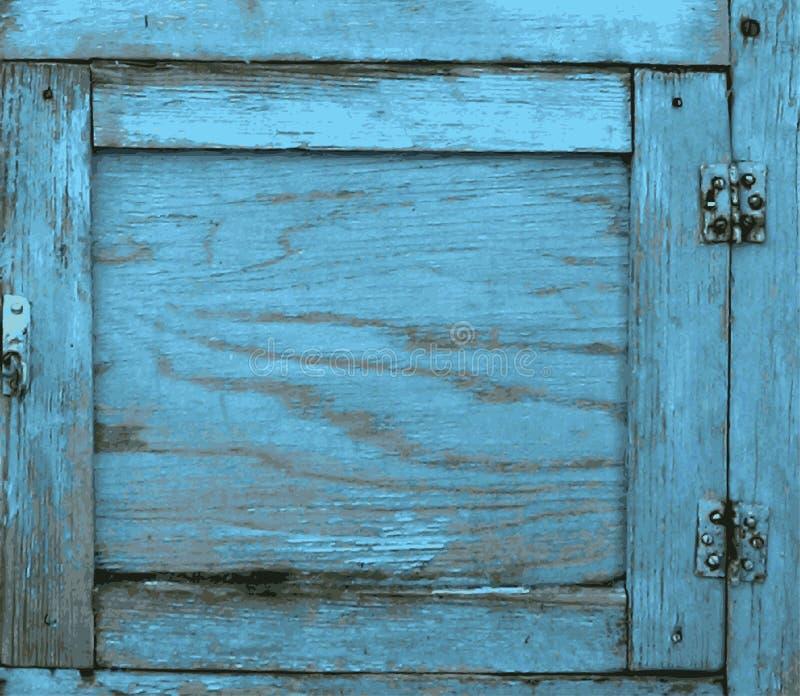 Stary drewniany drzwi dla sztuki tła Drewniana tekstura wektoru ilustracja obraz stock