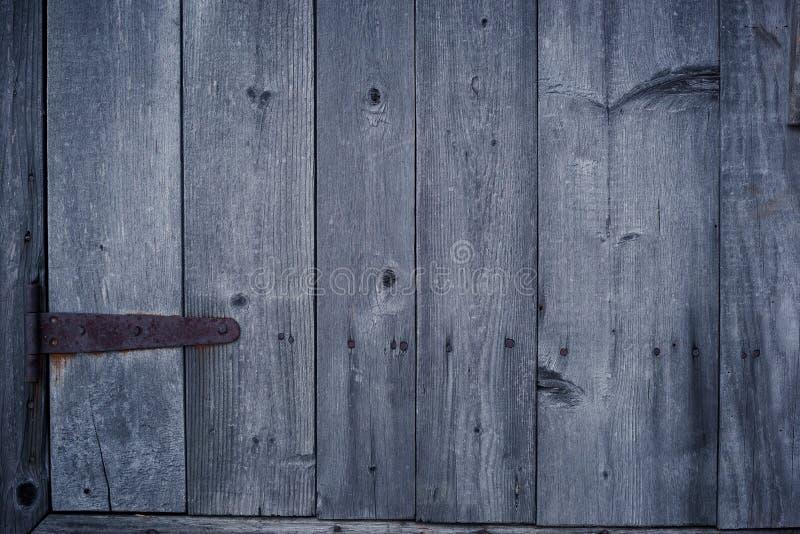 Stary drewniany drzwiowy tło fotografia royalty free