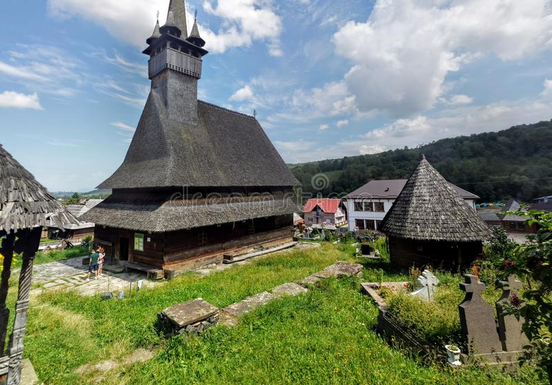 Stary drewniany kościół od Maramures, Rumunia zdjęcia royalty free