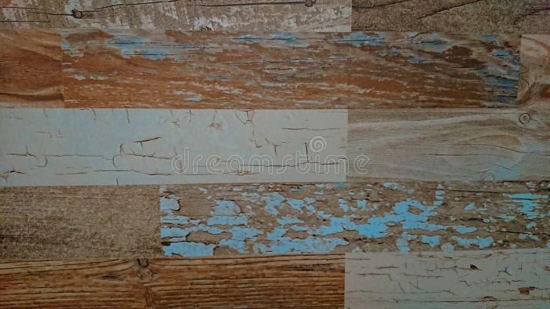 Stary drewniany kolorowy deski tekstury tło fotografia stock