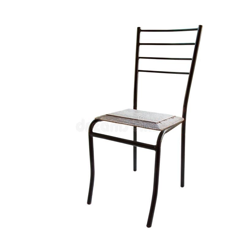 Stary drewniany krzesło odizolowywający na białej tła i ścinku ścieżce obrazy stock