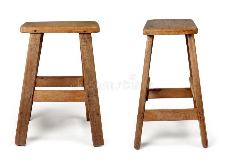 Stary drewniany krzesło odizolowywający na białym tle z ścinek ścieżką zdjęcie royalty free