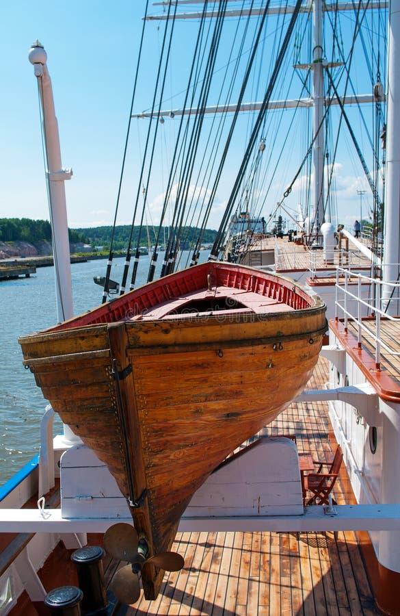Stary drewniany lifeboat zdjęcie royalty free