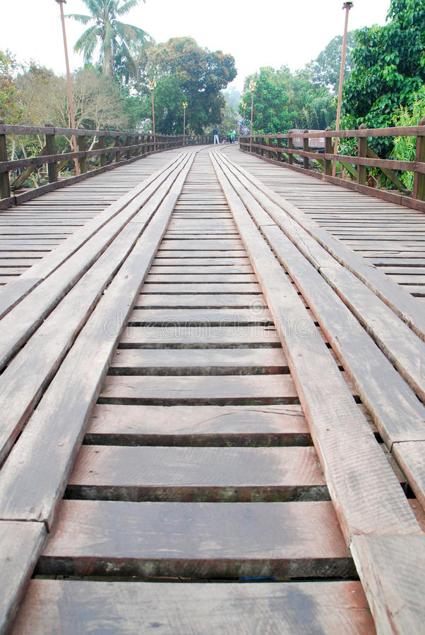 Stary drewniany most obrazy royalty free