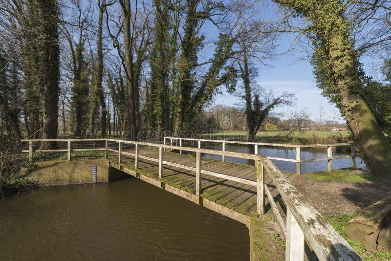 Stary drewniany most w holandiach zdjęcie royalty free