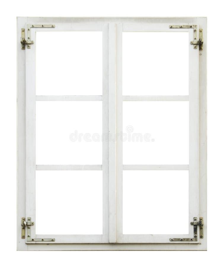 Stary drewniany okno obraz stock