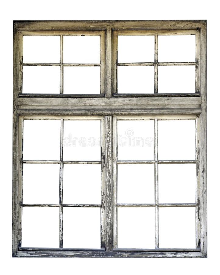 Stary drewniany okno zdjęcie royalty free