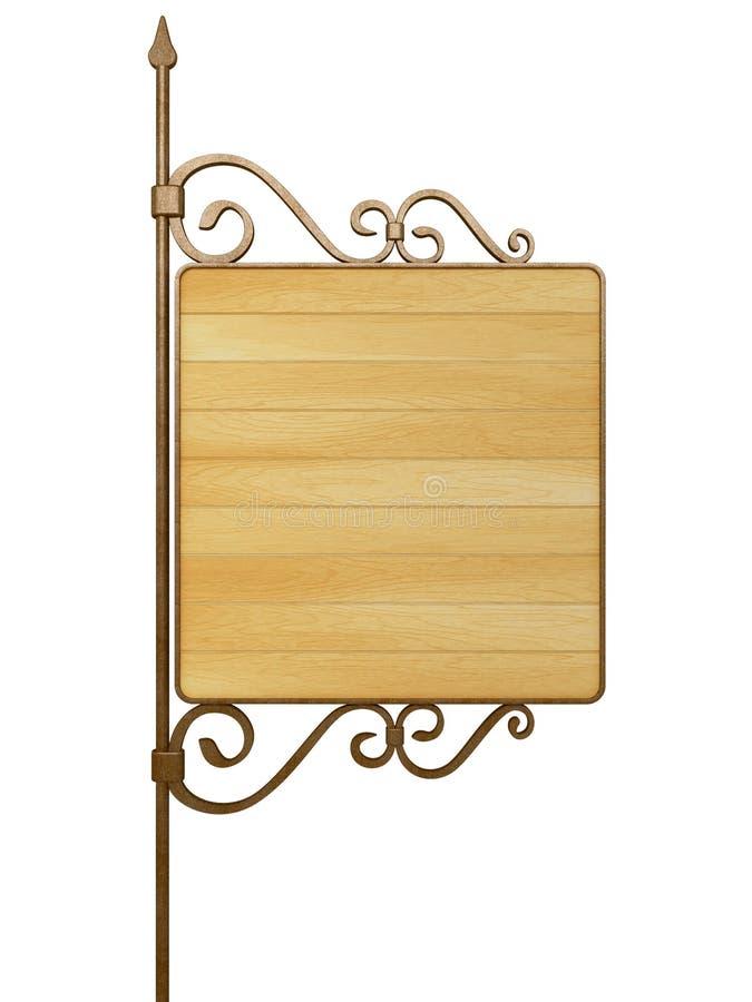 Stary drewniany signboard. ilustracja wektor