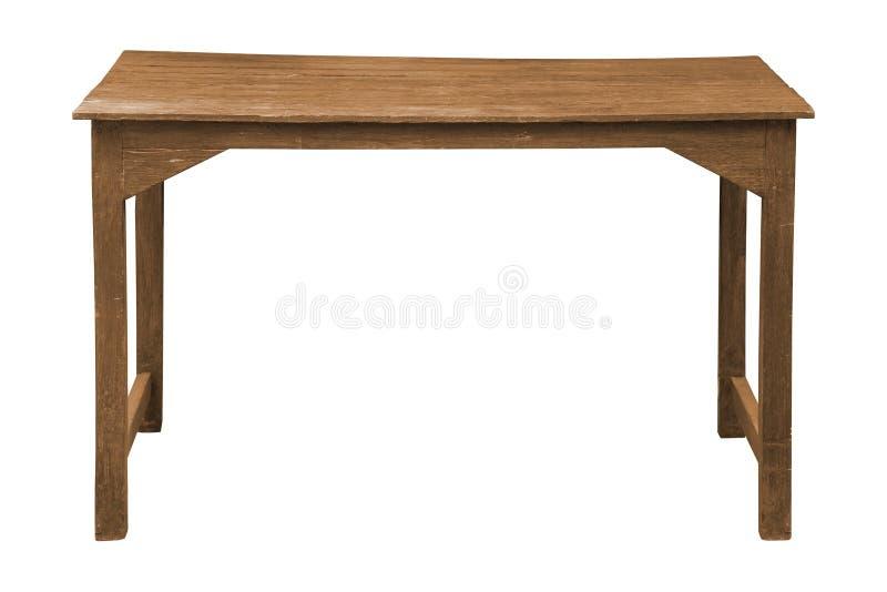 Stary drewniany stół odizolowywający obraz royalty free