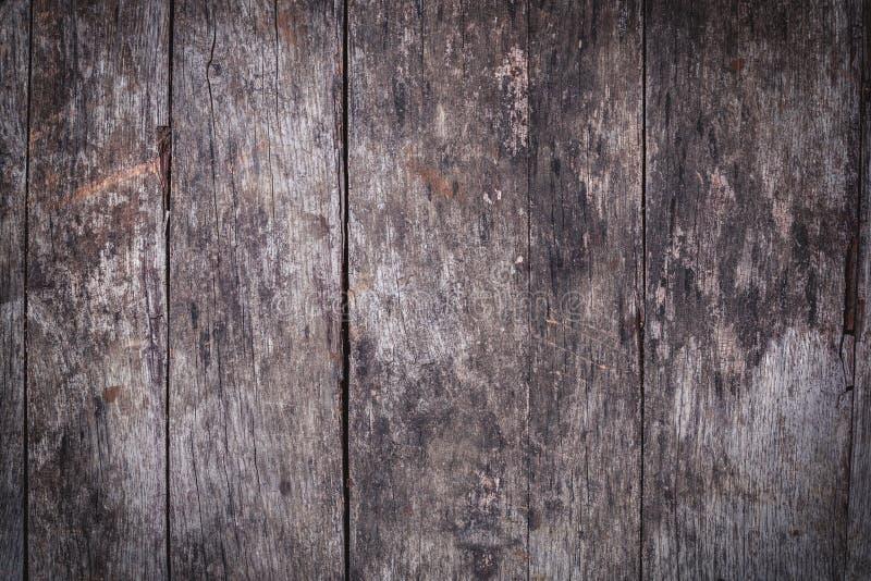 Stary drewniany tło lub tekstura Drewno podłoga lub stół obrazy stock