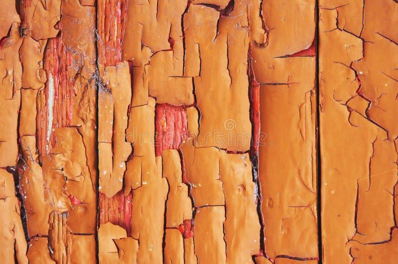 Stary drewniany tło malujący z farbą z pęknięciami, narysami i pocieraniem, obrazy royalty free