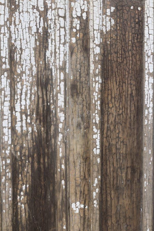 Stary drewniany tło z obieranie farbą obrazy stock