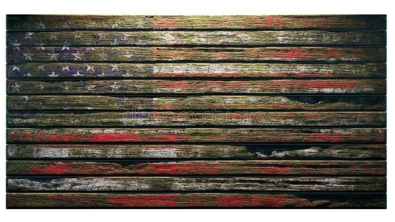 Stary drewniany tekstury t?a apocalypse ilustracji